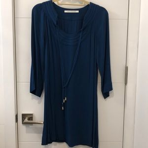 DVF blue dress